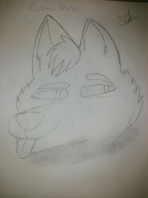 Unfinished Cosmic Wuffy art. By : Me (Please don't repin)