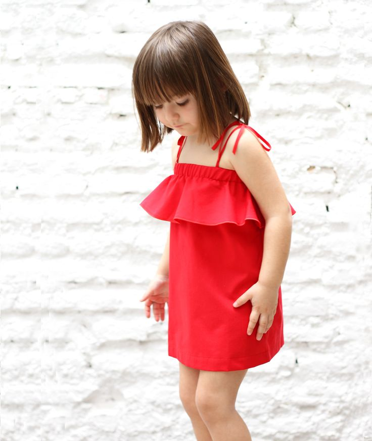 Red dress with straps | MOTORETA