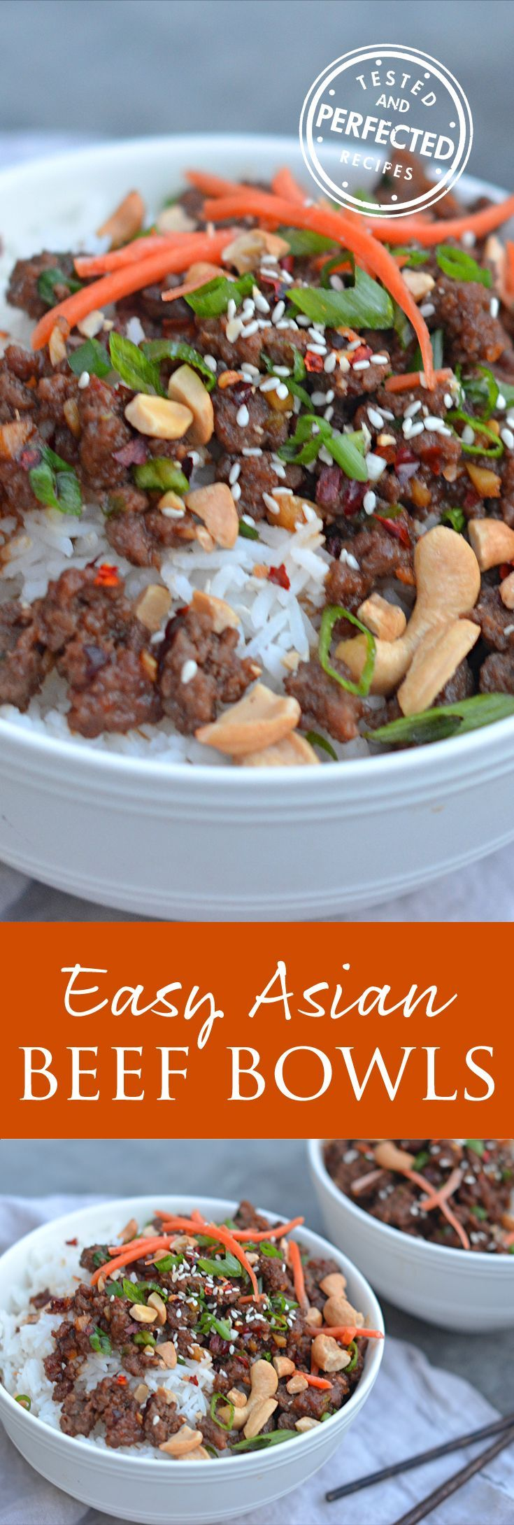 30-Minute Asian Beef Bowls - serve in lettuce cups or over cauliflower rice for low carb.