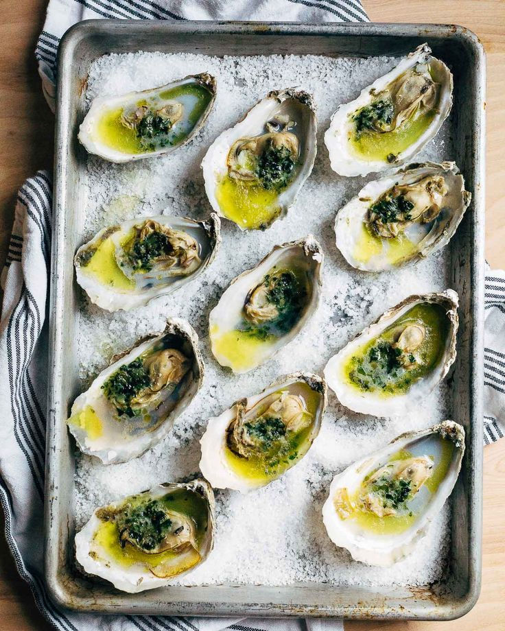 broiled oysters with ramp butter // brooklyn supper @subzeroandwolf  #FreshFoodMatters #Ad