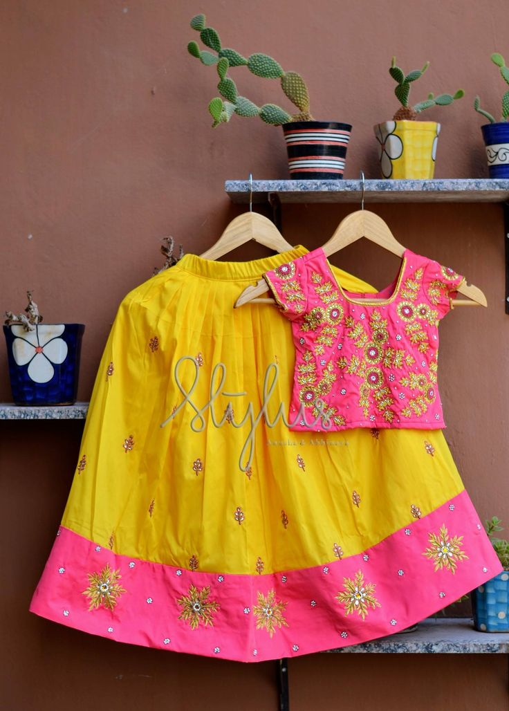 Go Traditional. Beautiful color combination.STYLUS DRESS 225Get ready your little ones this Shravana masamin traditional attireTo order:  Call  / message on 9247663022                  Mail: stylus.qak@gmail.com 07 August 2017
