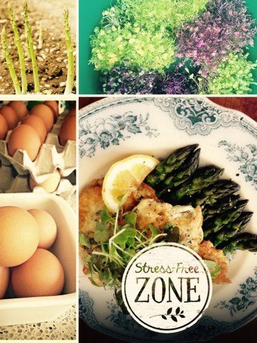 Whitebait Fritters with Asparagus and MicroGreens