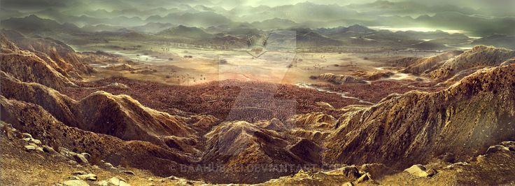 Battle Ground Illustration by Baahubali.deviantart.com on @DeviantArt