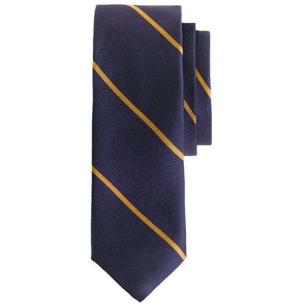 Cool J Crew English silk tie in thin stripe BRL liked on