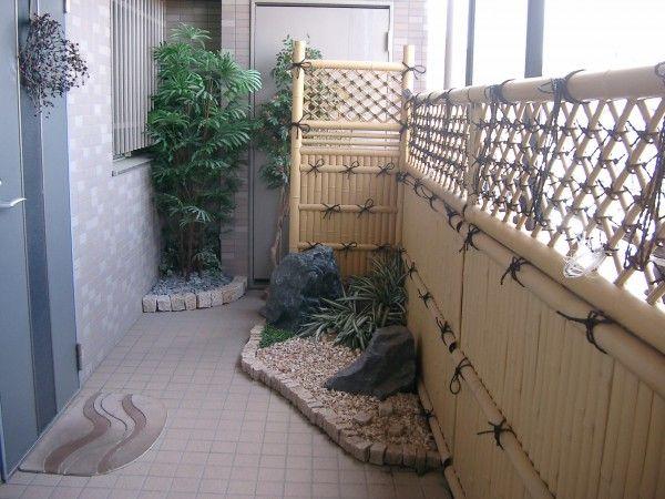 veranda Japanese garden bamboo fence