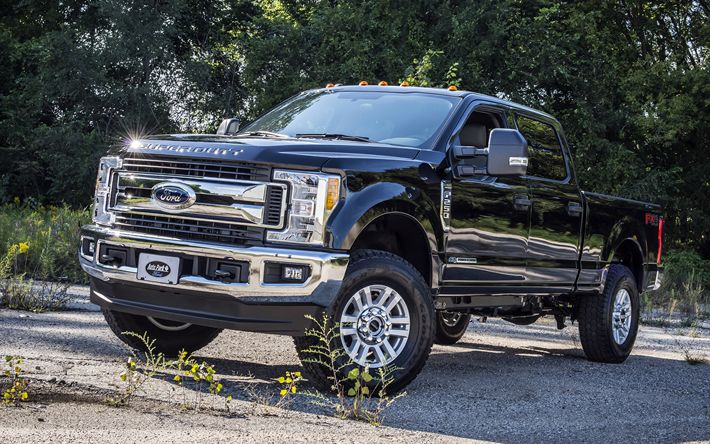 Descargar fondos de pantalla Ford F250 Super Duty, 2018 autos, camionetas, Suv, autos americanos, camiones, Ford