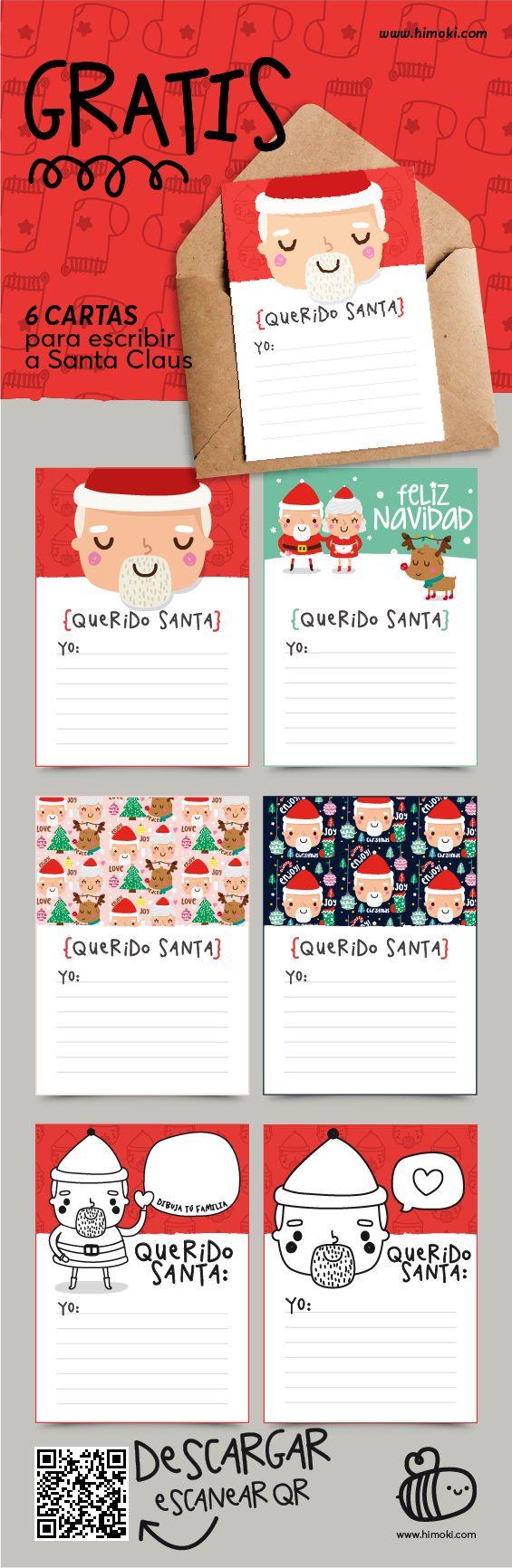 6 cartas para escribir a Santa Claus #himoki #gratis