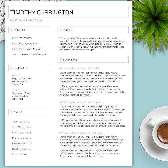 Newest addition to the template collection! Simple and elegant and perfect for ladies and gentlemen! Get that job!