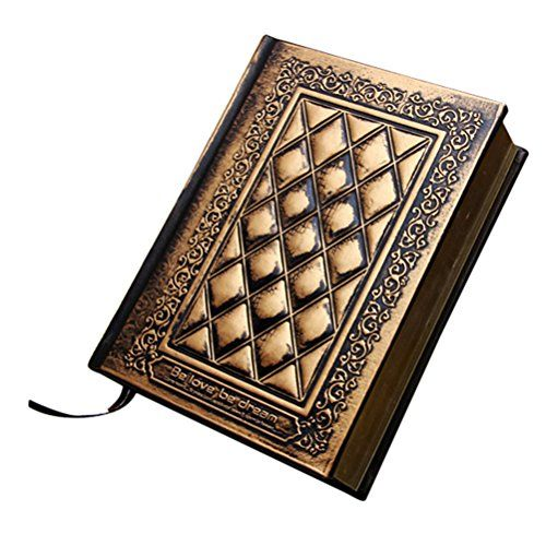 TINKSKY Notizbuch Tagebuch mit Schloss Tageb�cher Notizb�cher Travel Journal Notebook(Bronze)