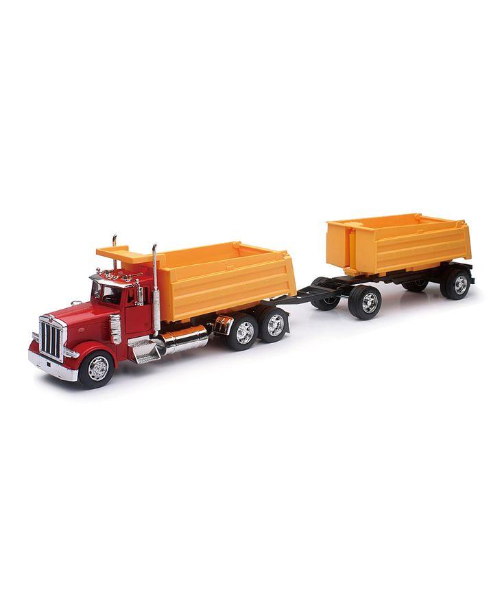 1:32 Scale Peterbilt 379 Double Dump Truck
