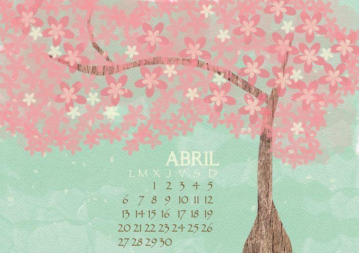 Calendario Abril (Fondo de Escritorio).