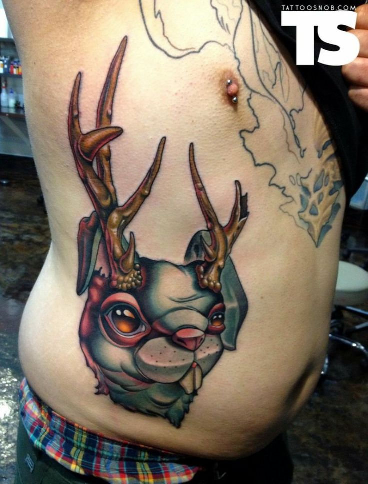 Jackalope tattoo by timmy b love ink pinterest for Tattoo places in nashville