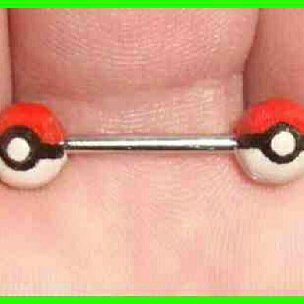#nipplebarbell  #pokemon  #badass We need this! @lucyxfer  #nipplebarbell  #pokemon  #badass We need this! @lucyxfer
