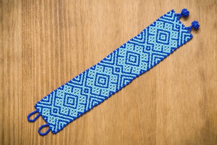 Huichol Bracelet Free Pattern And Tutorial: Huichol Patterns, Free Pattern, Bracelets, Beading Huichol, Beading Bracelet, Huichol Pattern Tutorials