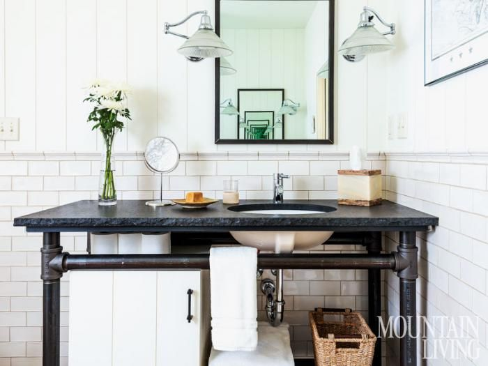 Homeowner and architect Paul Bertelli designed the vanity