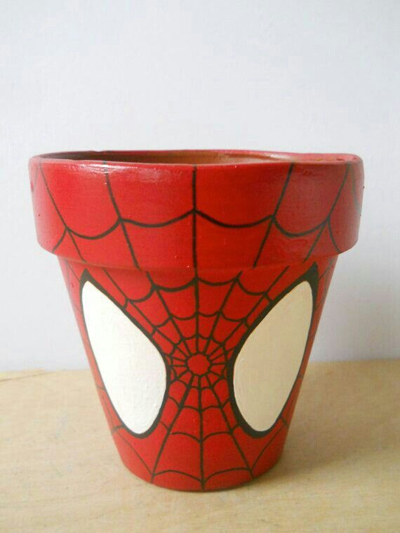 Spiderman pot i want to make him for mimis house