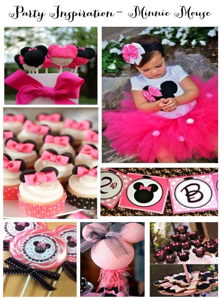34 Creative Girl First Birthday Party Themes & Ideas - Minnie Mouse Party ~ Maybe when she turns 2