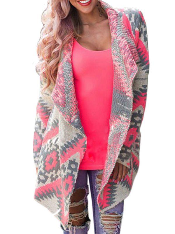 New Autumn Winter Women Tribal Print Cardigan Long Sleeve Tassel Cotton Poncho  #Unbranded #Cardigan #Work