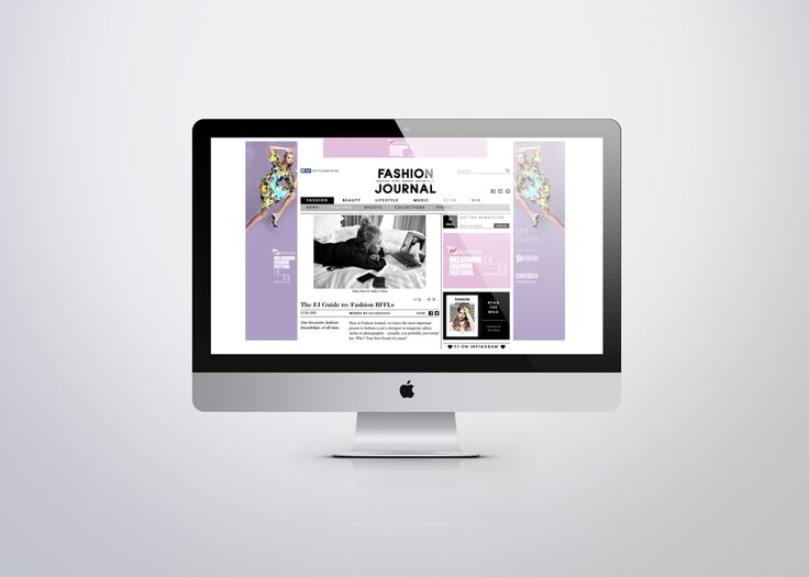 Melbourne Fashion Festival / Fashion Journal page takeover advertising