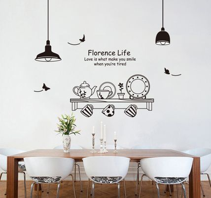 Best Wall Decals Kitchen Images On Pinterest Kitchen Wall - Wall stickers for dining roomdining room wall stickers home design ideas