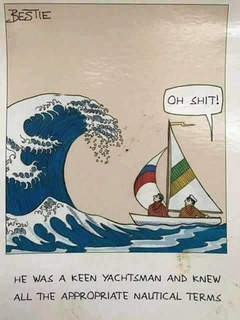 Sailing vocabulary is hard : sailing