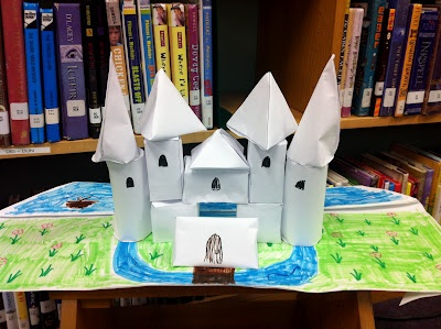 3D shapes castles. Count the faces, edges, vertices. This would be fun to do...if only we had more time to spare.