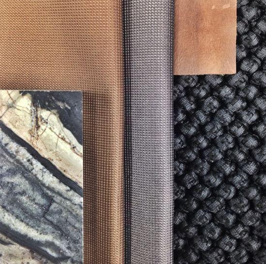 Mim DesignStudio material board - copper + marble love