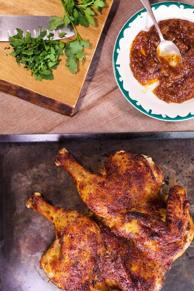 Sunny Anderson's sweet-glazed butterflied chicken dish is a scrumptious way to please the whole family for dinner.