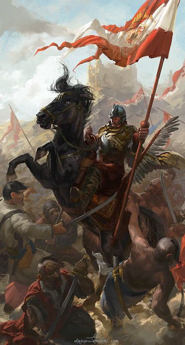 Arendzikowski, Piotr (b,1987)- Polish Winged Hussar Bannerman