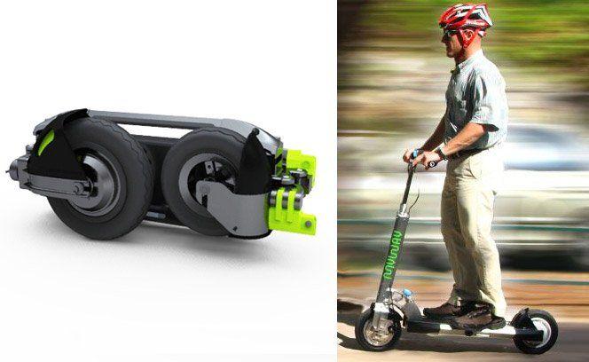 MyWay é uma marca nova de scooters elétricas e portáteis. Ela pesa 13 kilos e acelera até 25 km/h.