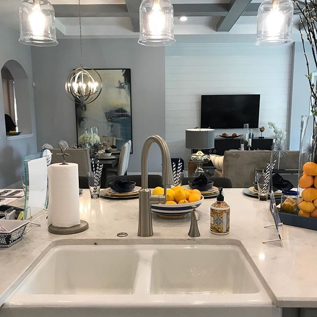 I wouldn't mind doing the dishes at all with this view! 😍  #home #house #kitchen #sink #dishes #newhouse #newhome #newconstruction #modern #transitional #graysandblues #gray #blue #decor #homedecor #lighting #art #homestaging #realestate #realtor #realtorlife #buyersagent #florida #tampabay #chrissynieves #yellowfinrealty #localrealtors - posted by Chrissy Nieves,PA,MBA,Realtor https://www.instagram.com/chrissynievesrealtor - See more Real Estate photos from Local Realtors at…