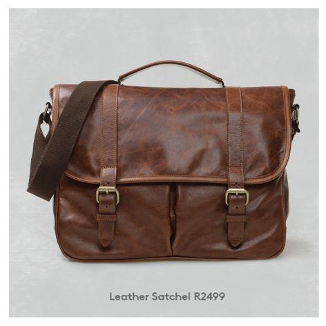 Gent's Genuine Leather Satchel