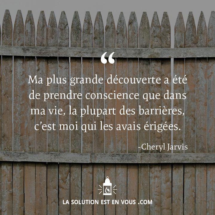 Les barrières de la vie