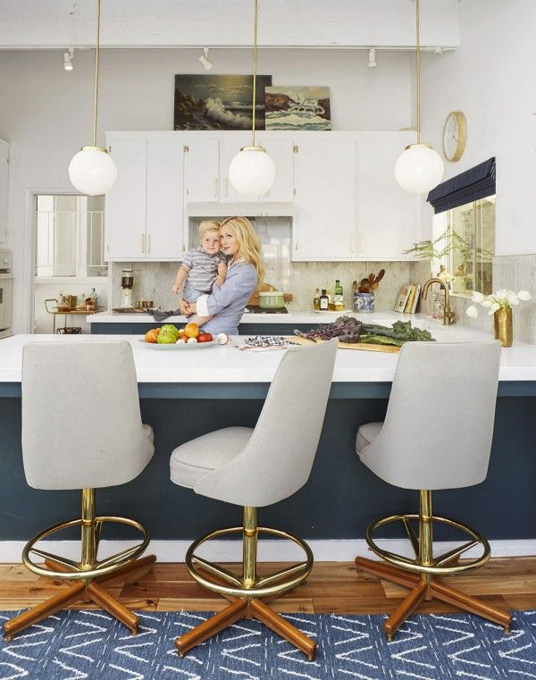 Kitchen Design - Modern Stools - Emily Henderson - Home Makeover - Good Housekeeping