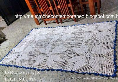 Meu Crochê Contemporâneo: Tapetão Retangular Eliziê Medina
