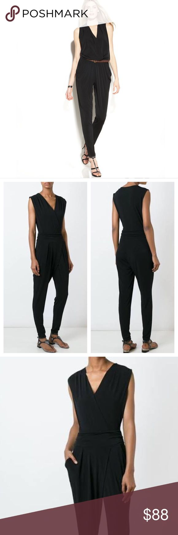Michael Kors vneck black jumpsuit one piece outfit Brand new with $140 tags. Sizes available: large & extra large. Adorable one piece jumpsuit. Authentic Michael Kors. Michael Kors vneck black jumpsuit one piece outfit. Michael Kors Pants Jumpsuits & Rompers