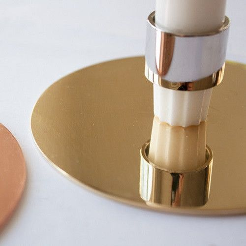 The new candlestick from Danish Emil Hjorth-Rohde in brass and copper