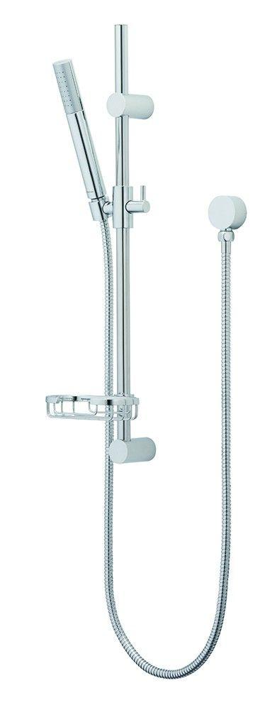Minimalist Brass Rail Shower