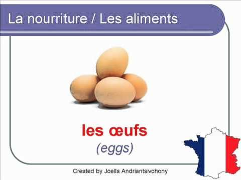 French Lesson 28 - FOOD VOCABULARY - NOURRITURE / ALIMENTS (Food in general)