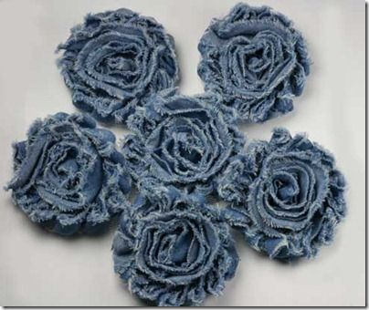 Denim flowers.