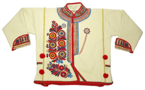 BEAUTIFUL Ethnic Embroidered Coat Slovak folk costume wool peasant style KROJ | eBay