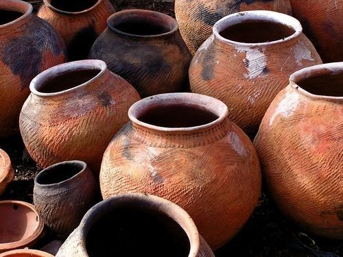 """Nearby were six stone jars filled with water used for ceremonial washing. Jews cleansed their hands, cups, and vessels with water before meals. Each large pot held from 20 to 30 gallons"" - John 2:6"