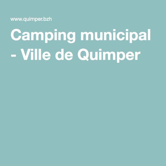 Camping municipal - Ville de Quimper
