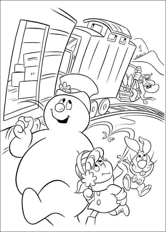 Frosty The Snowman Color Pages