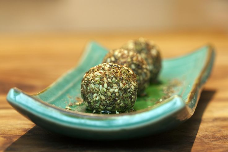 Zahtar crusted labena balls (using my special zahtar mix). What more can you say! Taste as good as they look!