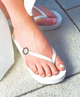 Personalized Pretty Wedge Flip Flops