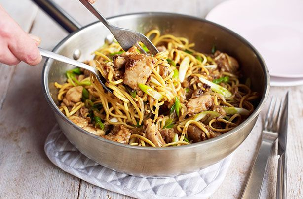 This tasty chicken chow mein recipe is a quick and easy to prepare healthy veg-filled dinner with lots of flavour. This delicious Chinese stir-fries recipe is a courtesy from celebrity chef Ken Hom, so you know it's a good one. Stir-fries like this chicken chow mein, require a wok, so make sure you've got one in your kitchen before you start chopping up the ingredients. This chicken chow mein takes only 40mins in total to prepare, so you can have a delicious meal made from scratch on the…