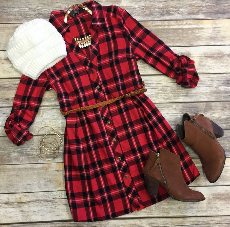 Country Mile Plaid Belted Tunic from privityboutique