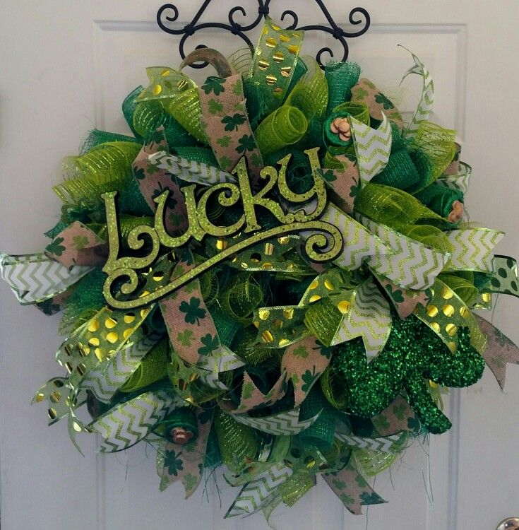 St. Patrick's Day mesh wreath