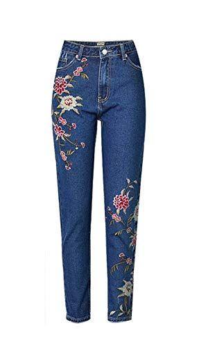 843a564f0c Pantaloni in Denim da Skinny Donna Pantaloni 3D Semplice Glamorous A ...